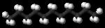 Kugel-Stab-Modell von Undecan