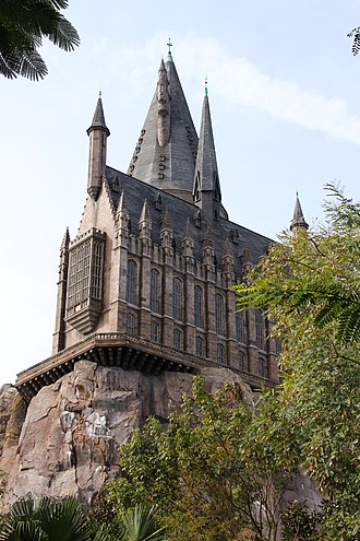 The Wizarding World of Harry Potter (Universal Orlando Resort) - Hogwarts Castle exterior of Harry Potter and the Forbidden Journey.