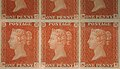 "Unused block of forty-two ""Penny Red-Brown"" postage stamps of Queen Victoria MET SF2002 399 11 img2.jpg"