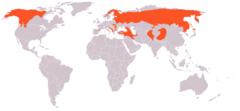 Ursus arctos range map.