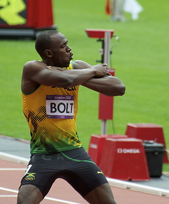 Athletics at the 2012 Summer Olympics – Men's 200 metres - Usain Bolt after his heat