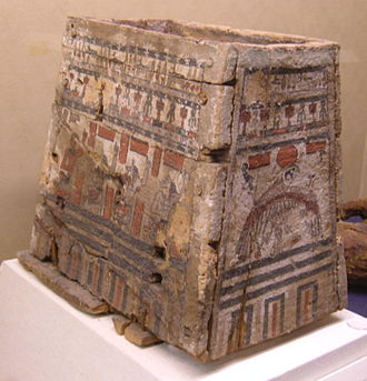 Ancient Egyptian concept of the soul - An ushabti box, Ptolemaic Period. On display at the Rosicrucian Egyptian Museum in San Jose, California. RC 623