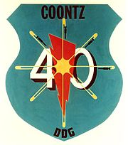 Uss Coontz DDG-40 Insignia