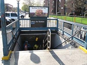 Utica Avenue (IND Fulton Street Line) - North side street stair