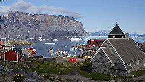 Transport in Greenland - The port of Uummannaq
