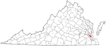 State map highlighting Newport News