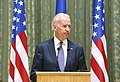 VP Biden and PM Yatsenyuk, Joint Statement, Kyiv, Ukriane, April 22, 2014 (13981132485).jpg