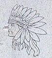 Vandalism detail, Taimah grave marker (cropped).JPG