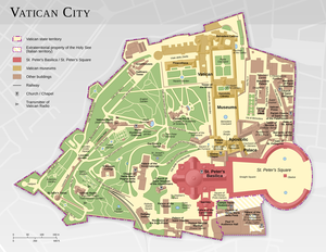 Geography of Vatican City - Map of Vatican City.
