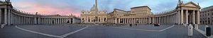 Vatikan Kolonaden Petersdom