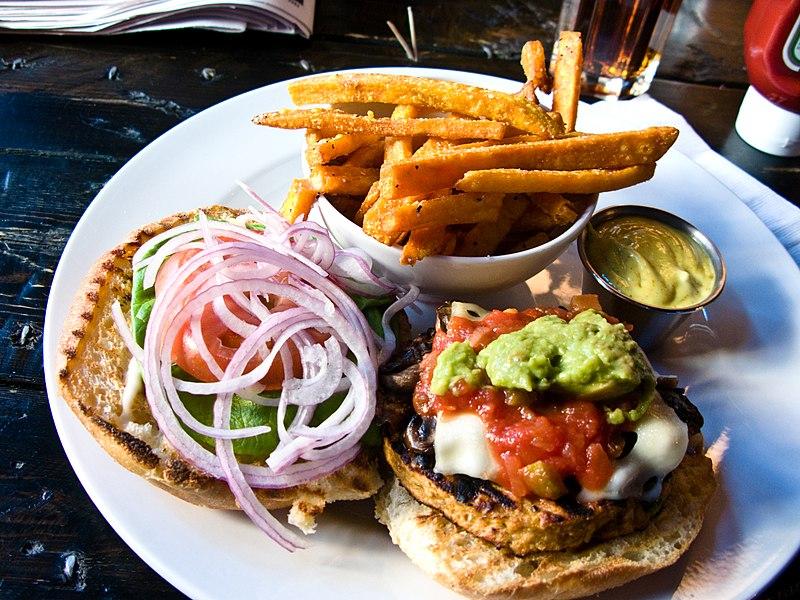 Veggie burger flickr user bradleyj creative commons