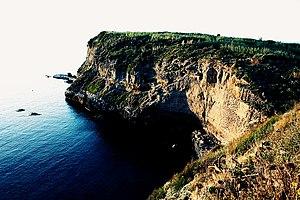 Italiano: La costa di Ventotene. Scogliera del...
