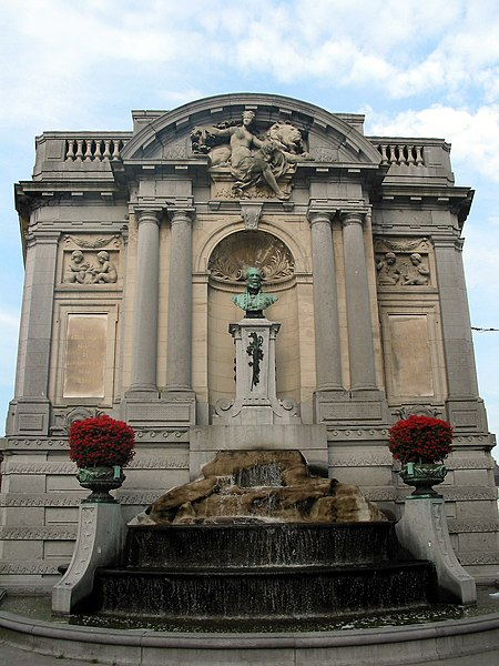 Verviers (Belgium), the Ortman fountain (1878).