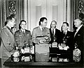 Vice President Nixon awards 1958 Collier Trophy.jpg