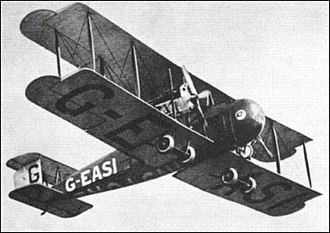 Vickers Vimy - Vickers Vimy Commercial in flight