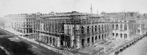 Vienna State Opera House under construction-1865