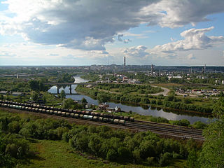 Ukhta Town in Komi Republic, Russia