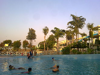 Jalandhar - View Of WonderLand's Water Park in the Evening