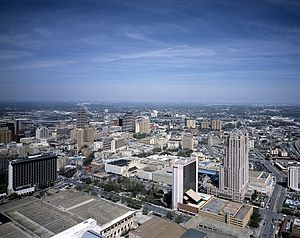 Tower of the Americas - View of Downtown San Antonio from the Tower of the Americas