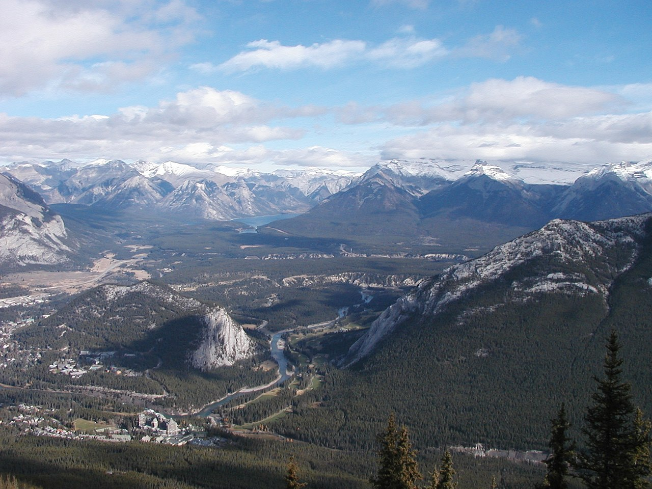 fileview from the top of sulphur mountainjpg wikimedia
