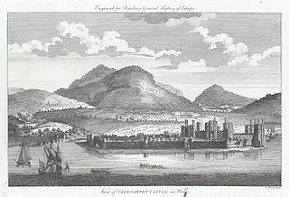 View of Caernarvon Castle in Wales