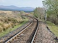 View south from Rannoch station from the level crossing, West Highland Line, Perth & Kinross.jpg