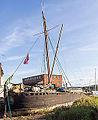 Vigilant, a Thames barge, moored at Topsham quay for renovation-9169.jpg