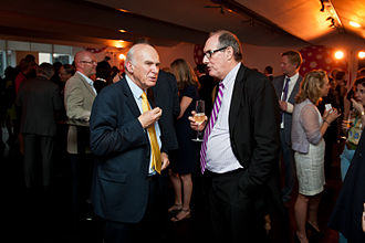 Will Hutton - Hutton (right) with Vince Cable in 2013