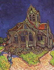 L'église d'Auvers, par Van Gogh