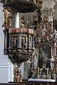 Violau, Wallfahrtskirche St Michael, Pulpit 002.JPG