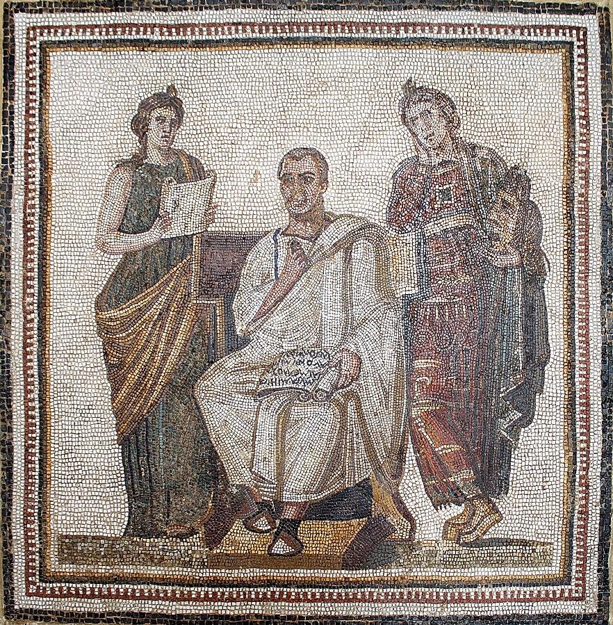 Mosaic depiction of Roman poet Virgil