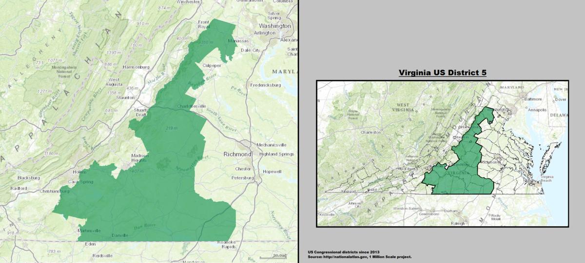Virginias Th Congressional District Wikipedia - Virginia us map