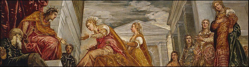 Visita de la reina de Saba a Salomón, por Tintoretto