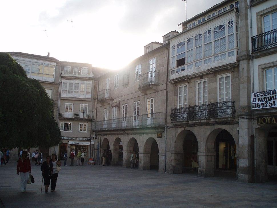 Vista de la Plaza de España de Lugo