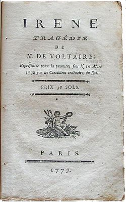 Image illustrative de l'article Irène (Voltaire)