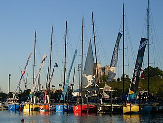 The Ocean Race - Race participants in Baltimore Inner Harbor, 2006