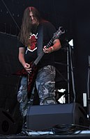 Vomitory, Peter Östlund at Party.San Metal Open Air 2013 02.jpg