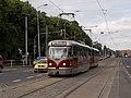 Vozovna Vokovice, zastávka, Tatra T3R.PLF, křižovatka.jpg