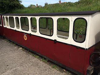 Wells and Walsingham Light Railway - Enclosed saloon coach Kathleen.