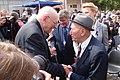 Władysław Bartoszewski i Jehuda Widawski 29 sierpnia 2014 na Stacji Radegast w 70 rocznicę likwidacji Litzmannstadt Getto fot M Z Wojalski 03452.jpg