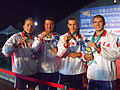 WDSC2007 Day1 Awards Men800FreestyleRelay Gold.jpg