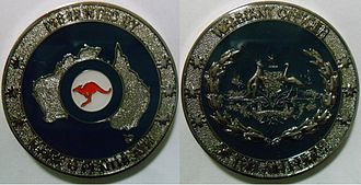 Warrant Officer of the Air Force - Challenge Coin of the Warrant Officer of the Air Force, Royal Australian Air Force; Specifically, WOFF-AF Mark Pentreath.