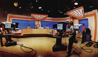 WTLV - The news set of WTLV in Jacksonville as it looked in the 1970s.