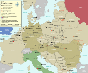 """Polish death camp"" controversy - During World War II, German Nazi concentration camps were located on the postwar territories of many European countries including Poland, Germany, Austria, Czechoslovakia, Belarus, France, Denmark, Belgium, the Netherlands, Italy, Latvia, Lithuania, Estonia, Norway, Hungary, Serbia, Croatia, Slovenia, Bulgaria and Macedonia; nevertheless, death camps of Operation Reinhard were built by Nazi Germany only in occupied Poland for logistical reasons"
