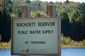 Wachusett Reservoir - Image: Wachusett Reservoir Sign