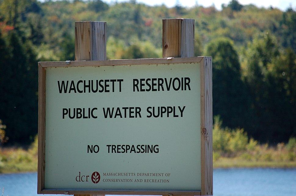 Wachusett Reservoir Sign
