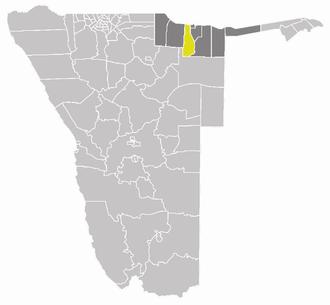 Kapako Constituency - Kapako constituency (yellow) in the Kavango Region (dark grey)