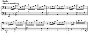 Piano Sonata No. 21 (Beethoven) - Opening bars of final movement