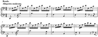 Piano Sonata No. 21 (Beethoven) - Opening bars of final movement