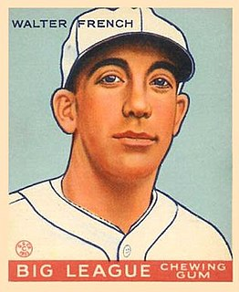 Walter French (baseball) Professional player in both Major league Baseball and the early National Football league